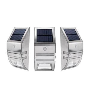 INKAZEN PRATIK GARDEN - Solarwandleuchte mit Bewegungssensor Sensor Lighty LED Silber