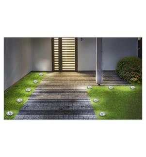 INKAZEN PRATIK GARDEN - 10er-Set Solar-LED-Gartenbodenlichter