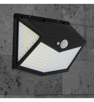 INKAZEN PRATIK GARDEN - Solarwandleuchte mit Bewegungssensor Thunderlight 212 LED