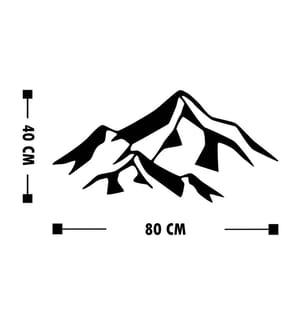 Wanddekoration Mountain - 80 x 40 cm