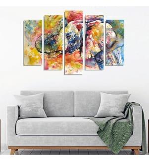 Dekoratives Leinwandbild (5-teilig, 50 x 20 cm ) - Mehrfarbig