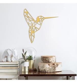 Metall-Wanddekoration Bird - Gold