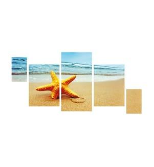 Dekoratives MDF-Bild (5-teilig, 12 x 24 cm) - Mehrfarbig