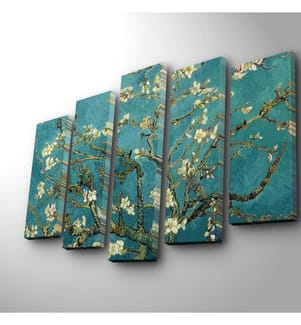 Dekoratives Leinwandbild (5-teilig, 70 x 19 cm) - Mehrfarbig