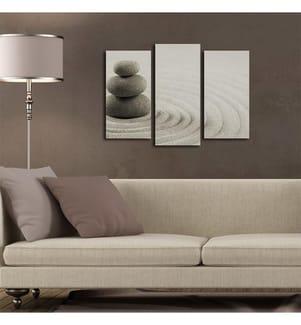 Dekoratives Leinwandbild (3-teilig, 20 x 39 cm) - Mehrfarbig