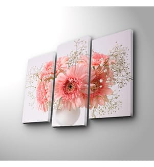 Dekoratives Leinwandbild (3-teilig, 45 x 20 cm) - Mehrfarbig