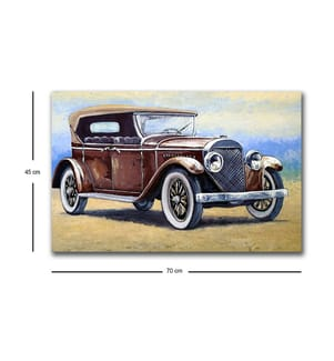 Dekoratives, Led-beleuchtetes Leinwand-Gemälde (45 x 70 cm) - Mehrfarbig