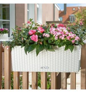 4er-Set Blumenkästen mit Integriertem Bewässerungssystem Balconera Cottage 50 - Weiss
