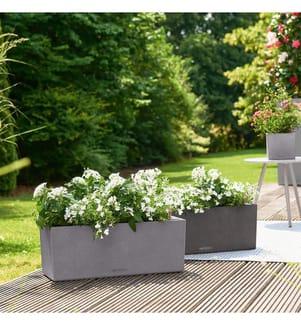 4er-Set Blumenkästen mit Integriertem Bewässerungssystem Balconera Stone 80 - Anthrazit