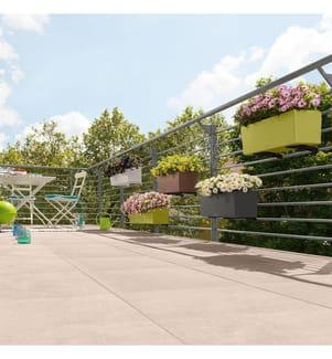 4er-Set Blumenkästen mit Integriertem Bewässerungssystem Balconera Color 80 - Dunkelbeige