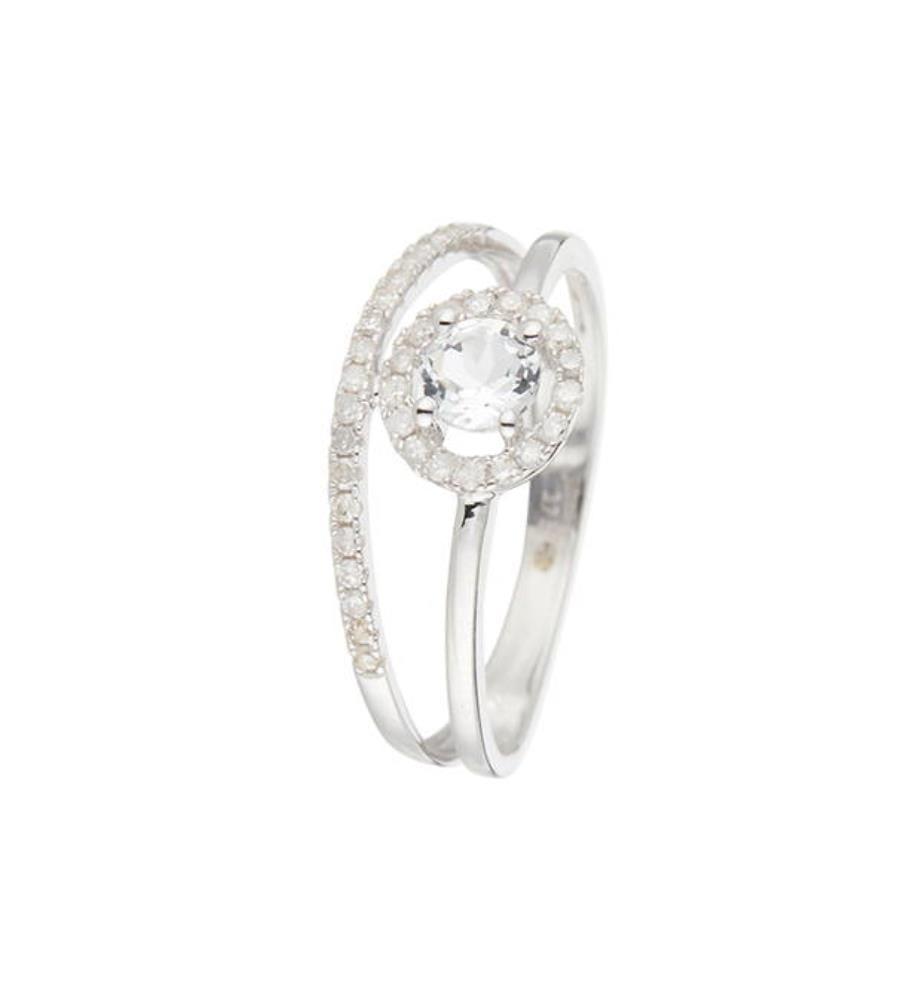 Ring Seku D 0,198/36 White Topaze 0,429/1 - Silber