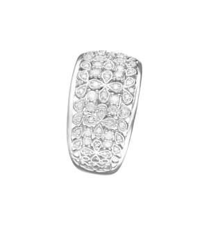 Ring Flower Explosion - Silber