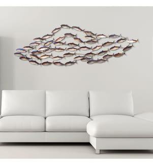 Metall-Wanddekoration School of fish