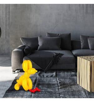 Sitzende Ballonhund - Gelb