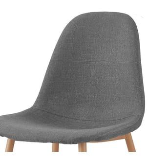 4er-Set Stühle - Grau und Hellbraun