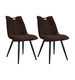2er-Set Stühle Hastings - Dunkelbraun