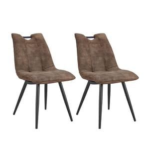 2er-Set Stühle Handy - Hellbraun und Schwarz