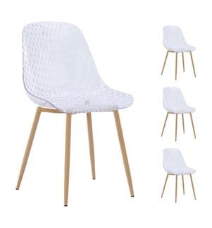 4er-Set Stühle Fuzz - Transparent