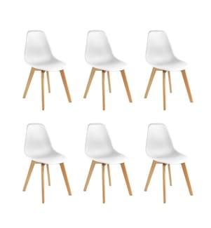 6er-Set Stühle Lena - Weiss