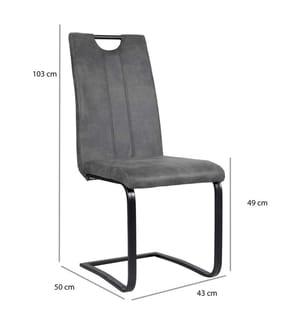 2er-Set Stühle - Schwarz und Grau