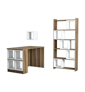 Büro-Ensemble Box - Braun und Multicolor