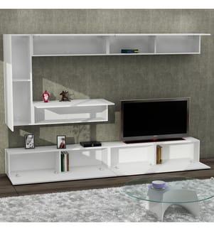Zweiteiliges TV-Möbel Gizmo - Weiss