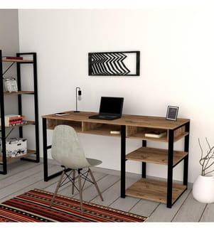 Schreibtisch Emro - Schwarz und Braun