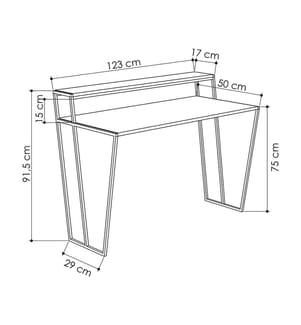 Schreibtisch Pal - Schwarz