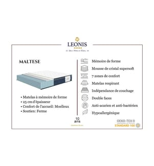 LEONIS - Matratze Maltese - 80 x 200 cm