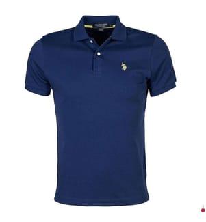 Poloshirt Small Logo - Marinblau