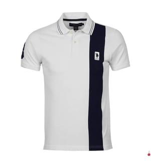 Poloshirt - Weiss und Marinblau