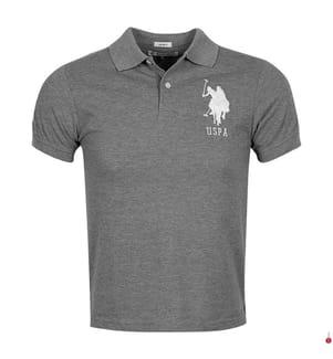 Poloshirt Big Logo - Grau