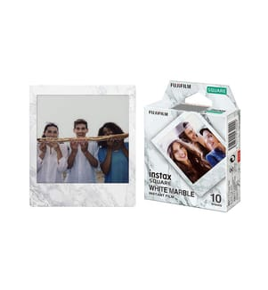 FUJIFILM - Sofortbildfilm Instax Square White Marble