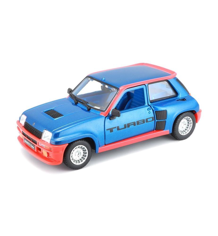 BURAGO - Modellauto - Renault 5 Turbo blau/rot 1:24