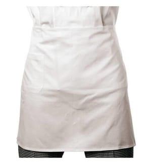 PADERNO - Küchenschürze 70 cm x 40 cm Baumwolle, Weiss