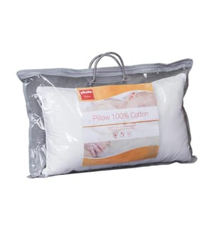 2er-Set Kopfkissen mit Anti-Milben Behandlung Bezug aus Baumwolle - 70 x 40 cm