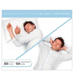 Memory-Schaumstoff-Kissen mit doppelt verstellbarem Bezug - 80x35cm