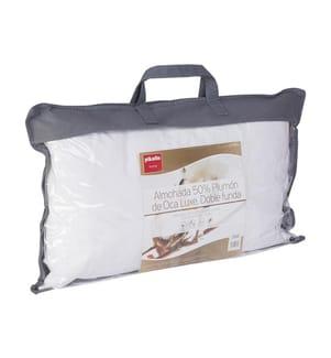Premium-Kissen aus 50% Daunen, mit Bezug aus 100% ägyptischer Baumwolle - 70 x 40 cm