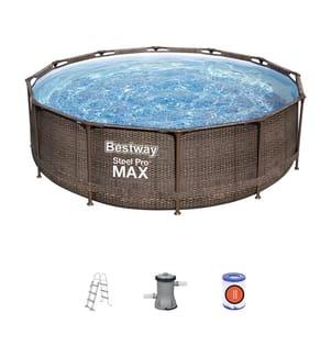 BESTWAY - Pool-Set Steel Pro Max Deluxe - 366 x 100 cm