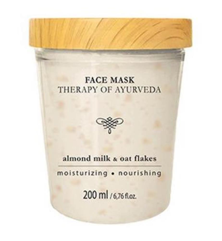 Gesichtsmaske aus Mandelmilch und Haferflocken - 200 ml