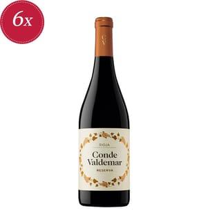 6x Conde Valdemar Reserva DOCa Rioja 2012