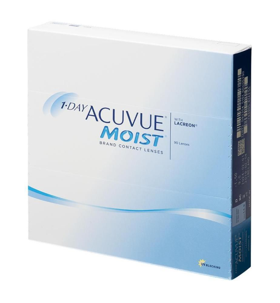 Acuvue - 1-Day Moist Dioptrie -7,5 - 90 Stck.