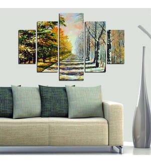 Dekorative MDF-Malerei (5 Stück) - Multicolor