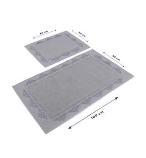 Badematten-Set (2 Stück) Sapphire - Grau