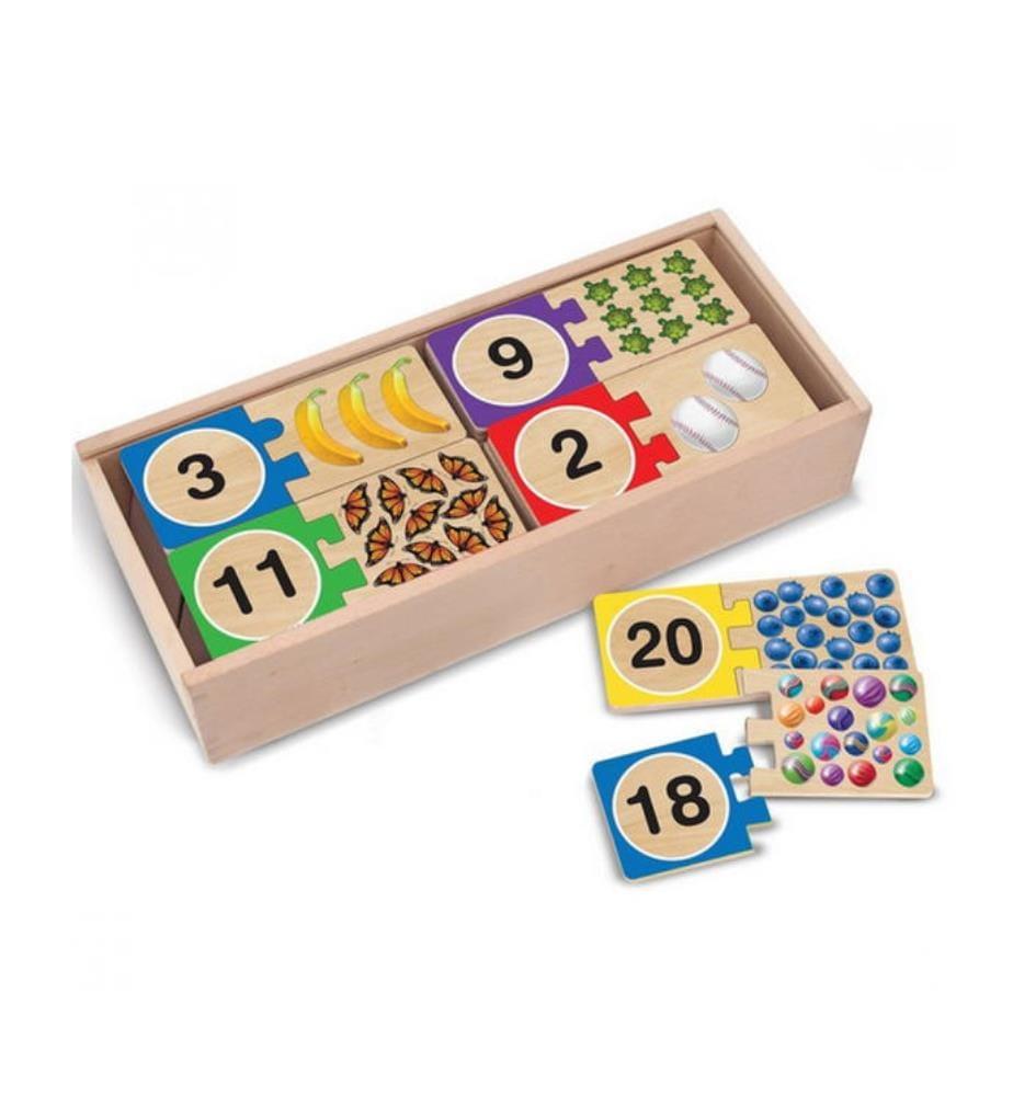 Selbstkorrigierendes Holzpuzzle - Zahlen