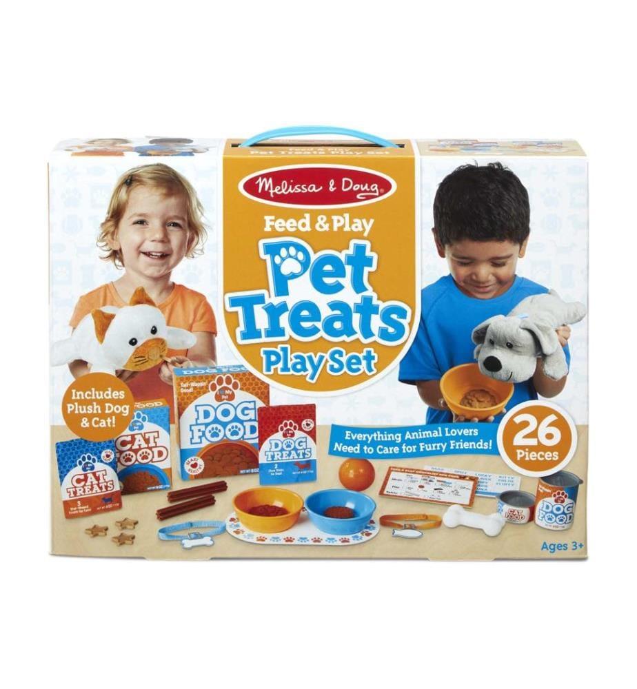 Spielset Haustier Leckereien + 2 Stofftiere - 26-teilig