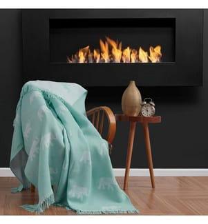 Sofa-Schutzhülle - Hellblau und Weiss