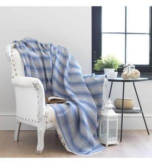 Sofa-Schutzhülle Karelidokuma - Blau und Weiss