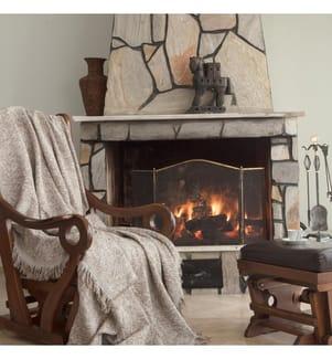Sofa-Schutzdecke aus Leinen - Dunkelgelb