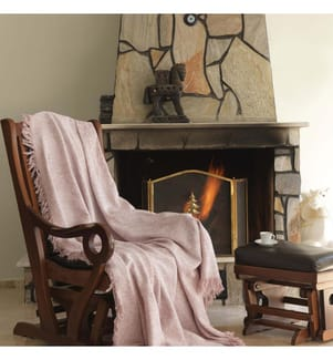 Sofa-Schutzdecke aus Leinen - Rosa